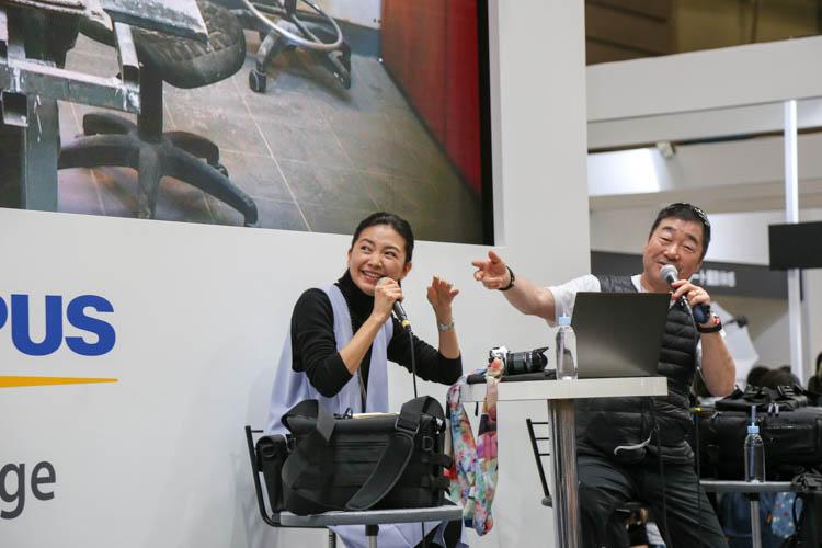 CP+2017(カメラ・写真のイベント)オリンパス 山岸伸先生と坂本三佳さん